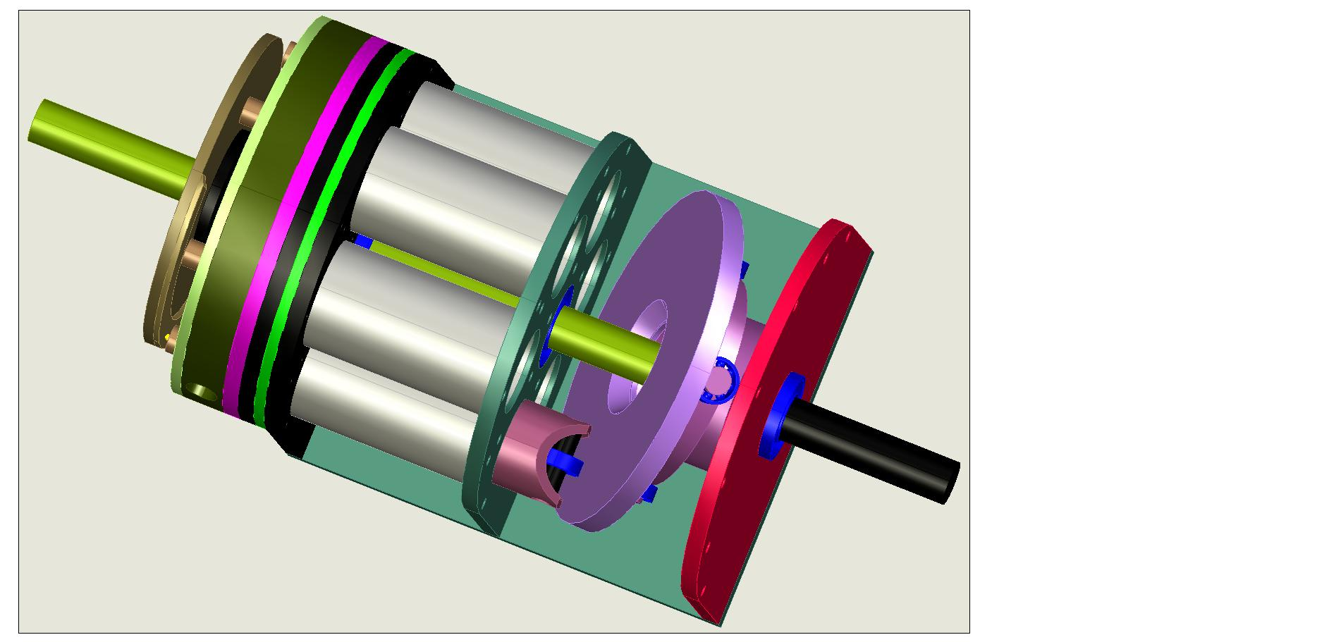 axial piston rotary engine  axial  free engine image for